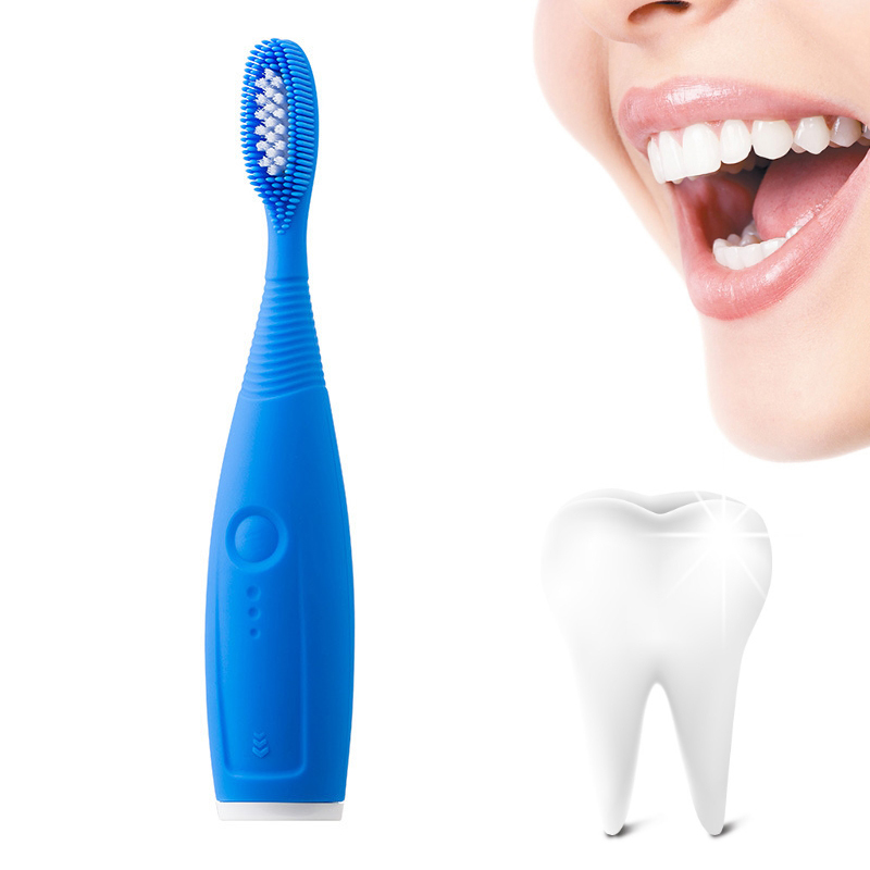 Hot IPX6 Waterproof Sonic Electric Toothbrush Silicone Waterproof Toothbrush Silicone Deep Clean Oral Brush Soft Rubber Toothbru