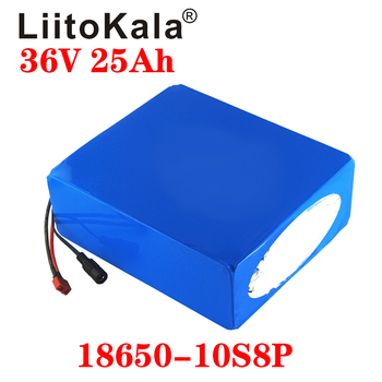 LiitoKala 18650 battery 36V 20AH 30AH 25AH 15AH Lithium Battery Electric Motorcycle Bicycle Scooter with BMS image