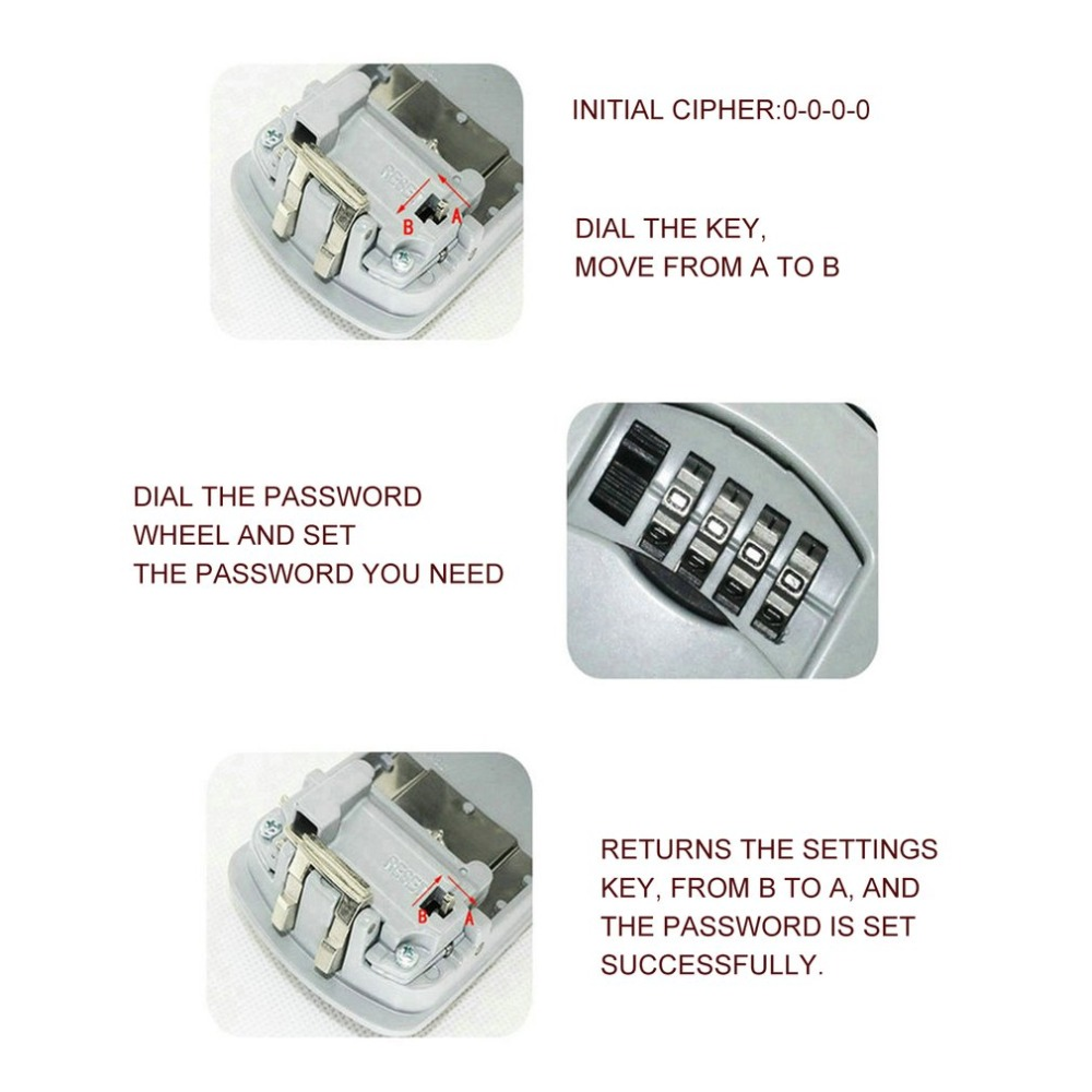 Металлический открытый сейф ящик для ключей Органайзер коробка безопасности 4 цифры Opslag замок коробка открытый настенное крепление чехол Opslag gereedschap