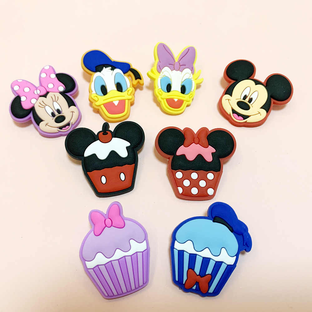1Pcs Leuke Cartoon Minnie Badges Broches Siliconen Badges Kleding Pictogrammen Op Rugzak Pin Broche Kids Accessoires