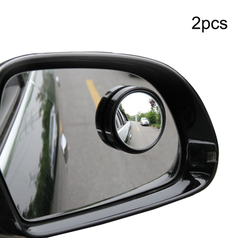 Voiture Blind-Spot Angle-Mort 360-Mirror Convex Rearview Round Car 2pcs Small title=