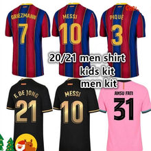 2020 2021 adult shirt kit ANSU FATI Messi GRIEZMANN DE JONG PJANIC COUTINHO shirt 20 21 Barcelonaes adult Men + kids kit