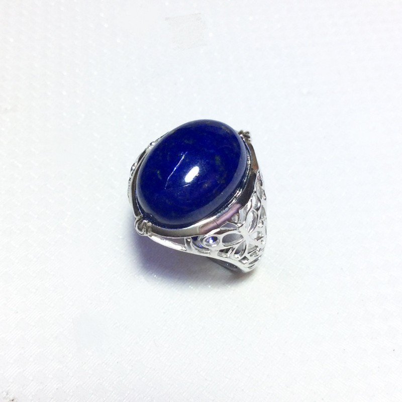 Pendant traditional Peking silver 9991000 Lapis lazuli from Afghanistan