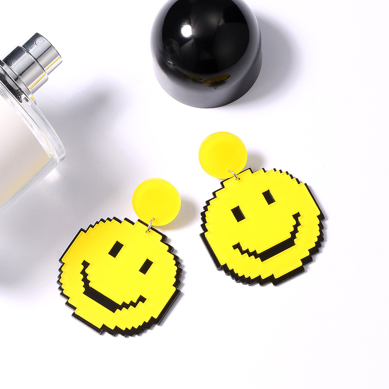 Yellow Smile Earrings 1