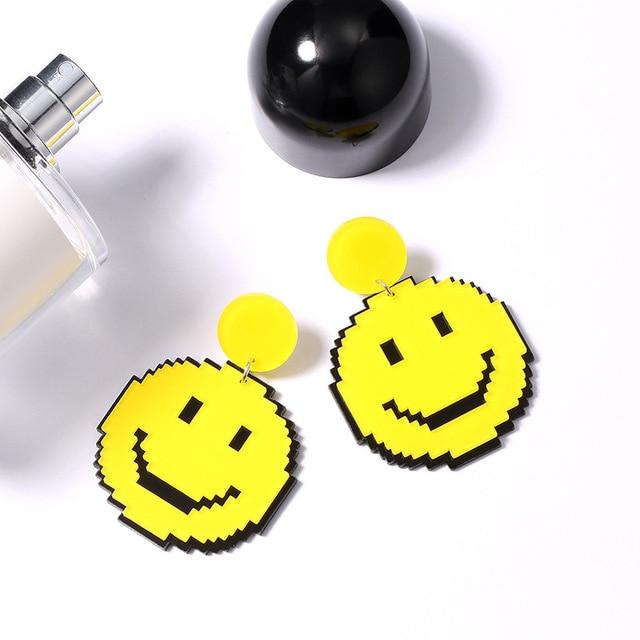 Yellow Smile Earrings 1