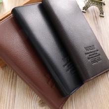 Cuero genuino bloqueo cartera cremallera monedero bolsillo bolso