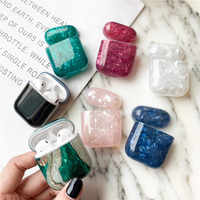 Luxury Marble For Airpods Case Bluetooth Earphone Cute Silicone For Airpod 2 case Cover Headphone Charging Bag for air pods case