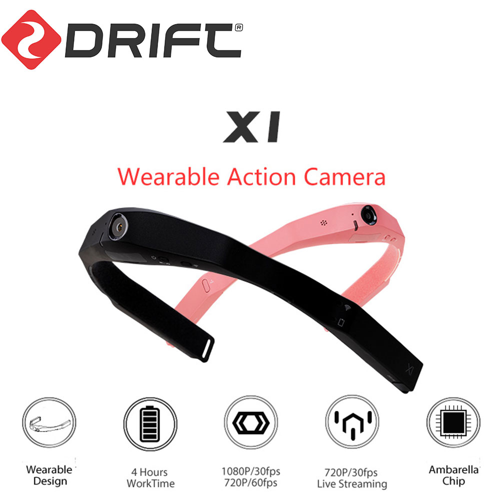 DRIFT オリジナルドリフトウェアラブルカメラアクションカメラ 1080P HD ヘルメットカメラボディ着用カメラスポーツカム  wifi とカメラミニライブチャットグラスカメラ -    グループ上の 家電製品 からの スポーツ