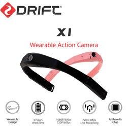 Oryginalny DRIFT kamera do noszenia kamera akcji 1080P HD kamera na kask ciała nosić kamery kamera sportowa z kamera wifi do aparatów ze szkła w Kamera sportowa od Elektronika użytkowa na