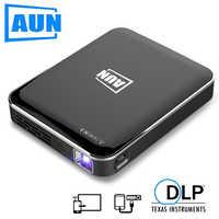 AUN MINI Proiettore X3, Supporto Del Telefono Mobile di Mirroring Dello Schermo, proiettore portatile per Full HD 1080P Home Cinema, Viaggi 3D Beamer