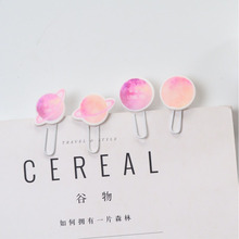 4pcs/set Creative Starry Sky Soft Rubber Paper Clip Office Binding Supplies Note Clips Office School Stationery