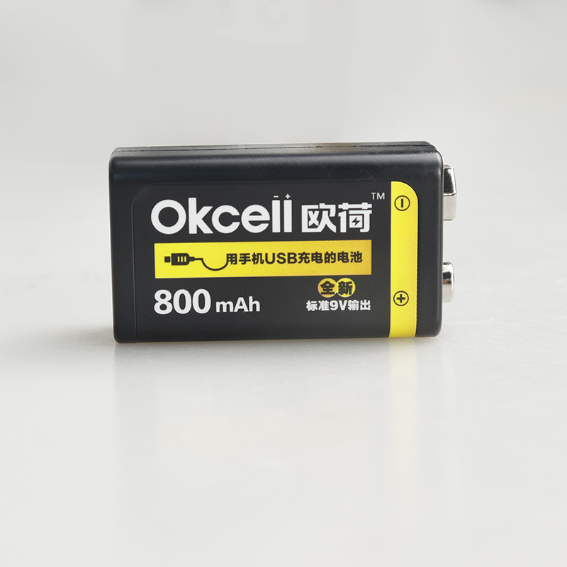 OKCELL 9V Rechargeable Battery 800mAh USB Portable OKcell Micro USB Batteries For RC Helicopter Model Microphone Bateria