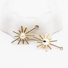 10 шт/лот Подвески золотого и серебряного цвета с искусственным