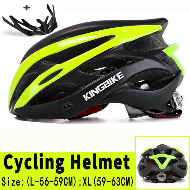 KINGBIKE Men Women Bicycle Helmet MTB Road Bike Helmet Capacete EPS+PC 24 Vents Integrally-molded Cycling Helmet Casco Bicicleta