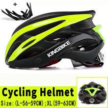 KINGBIKE mężczyźni kobiety rowerowe kask MTB Road kask rowerowy Capacete EPS + PC 24 otwory wentylacyjne formowane integralnie kask rowerowy Casco Bicicleta tanie tanio (Dorośli) mężczyzn J-872 230g 20 capacete ciclismo Casco Ciclismo Unisex Ultralight Cycling Helmet EPS (helmet bubble) PC (helmet shell)