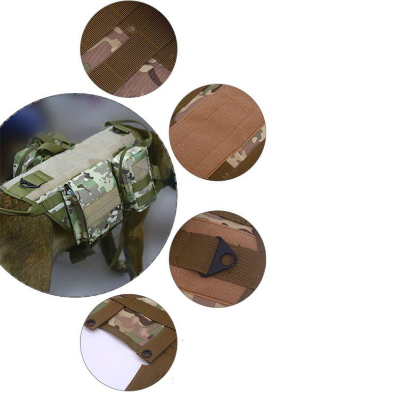 Image 4 - Tactical Dog Training Vest Harness Detachable Pouches Military K9  Harness Large Dog Training EquipmentDog Vests