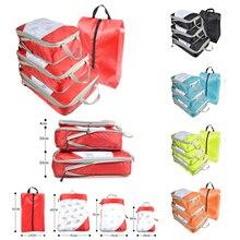 圧縮梱包キューブ旅行荷物オーガナイザー折りたたみ/子供/ナイロン/女性/男性/セット/レディース/ 大/防水/トラベルバッグオーガナイザー旅行バッグ