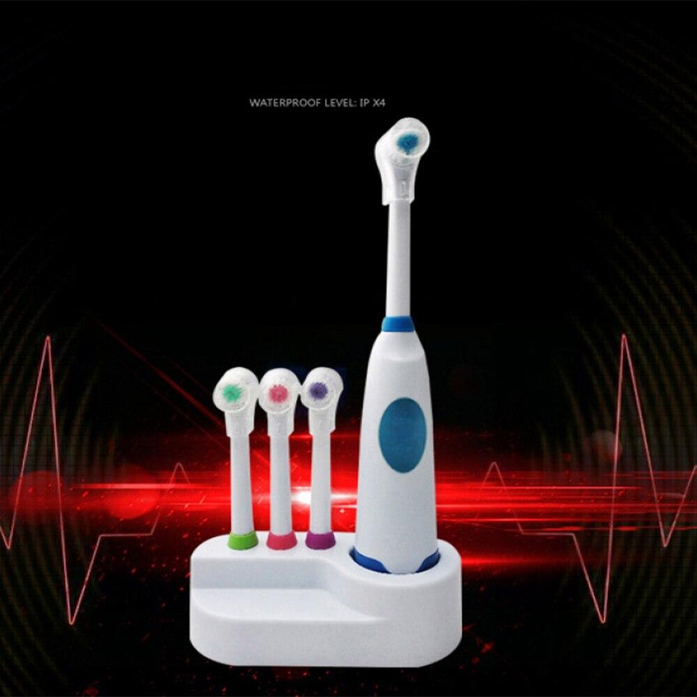 1 conjunto novo design bateria operado escova de dentes a prova dwaterproof agua cuidados odontologicos cabecas