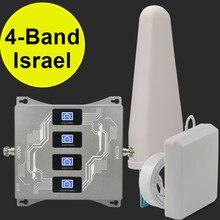 Israel quad band 2g 3g 4g amplificador de sinal cdma umts lte 850 900 1800 2100 impulsionador sinal repetidor do telefone móvel 3g 4g gsm