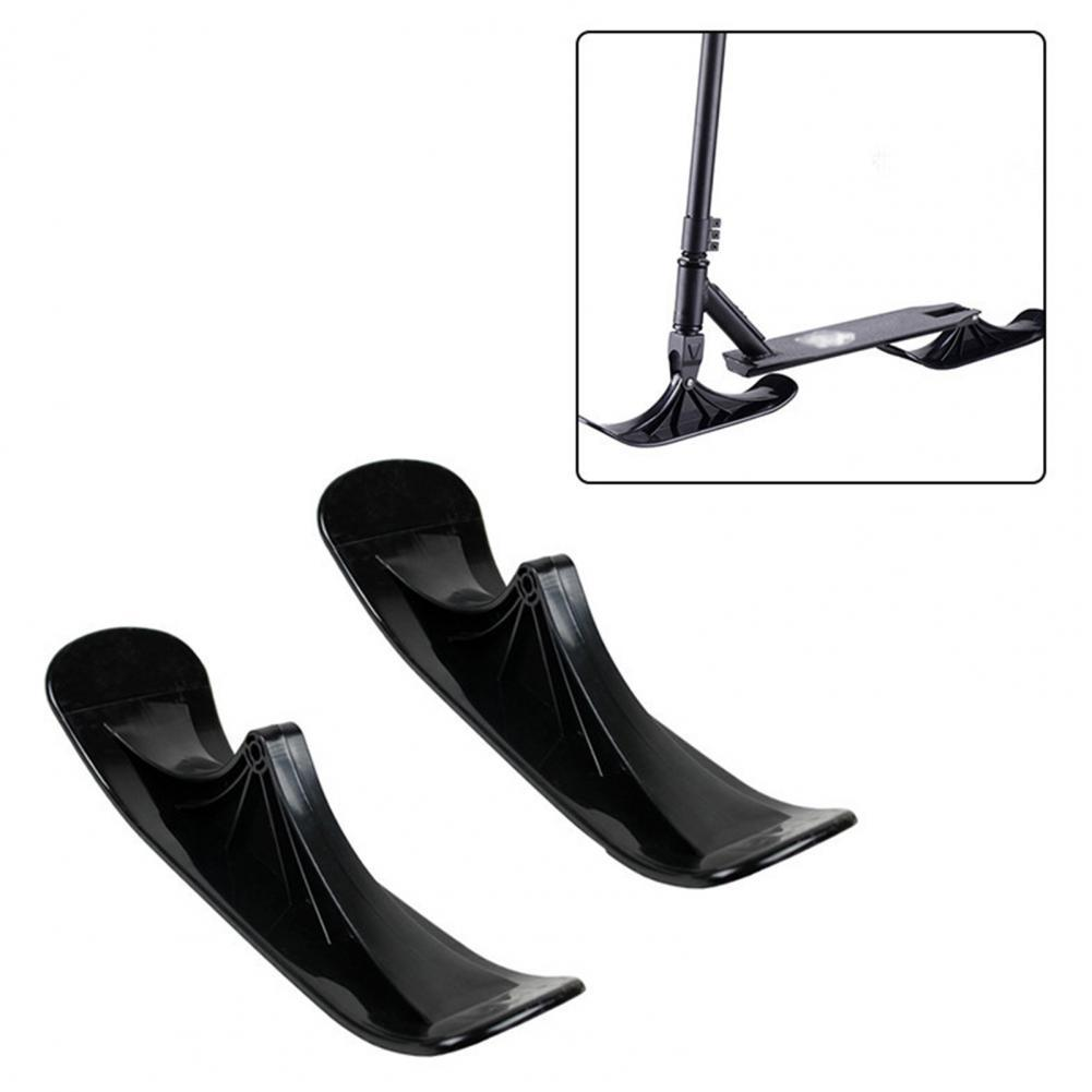 2Pcs Ski Sleigh Accessories Winter Snow Scooter Ski Sled Children's Dual-use Ski Two-in-one Scooter Two Wheels Riding Tyre Parts