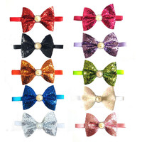 50pcs Christmas Dog Bow Tie Shining Pet Products Dog Accessories Pet Dog Bowtie Cute Bow Tie Dog Pet Cat Holiday Supplies