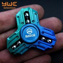 YUC DIY Fidget Spinner EDC Metal Hand Spinner Toys With Zircon Bead Aviation Aluminum Lightweight Toy Adult Antistress ADHD Toys