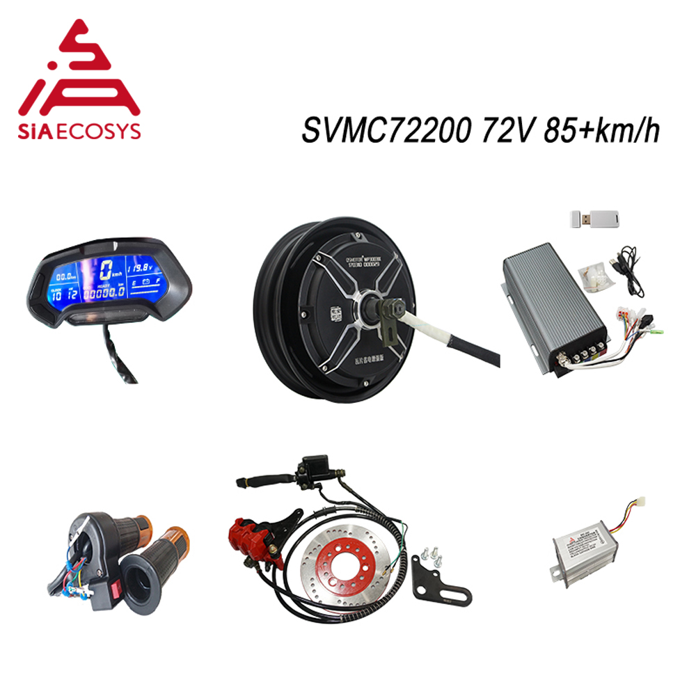 <font><b>QS</b></font> <font><b>Motor</b></font> 10inch <font><b>4000W</b></font> 205 V3 72v 85kph BLDC <font><b>motor</b></font> kits with SVMC72200 controller Conversion kits for electric scooter image