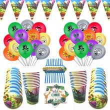 Plantas vs zumbis festa de aniversário decorações balões crianças favores banners festa de aniversário papel copo pratos palhas guardanapo suprimentos