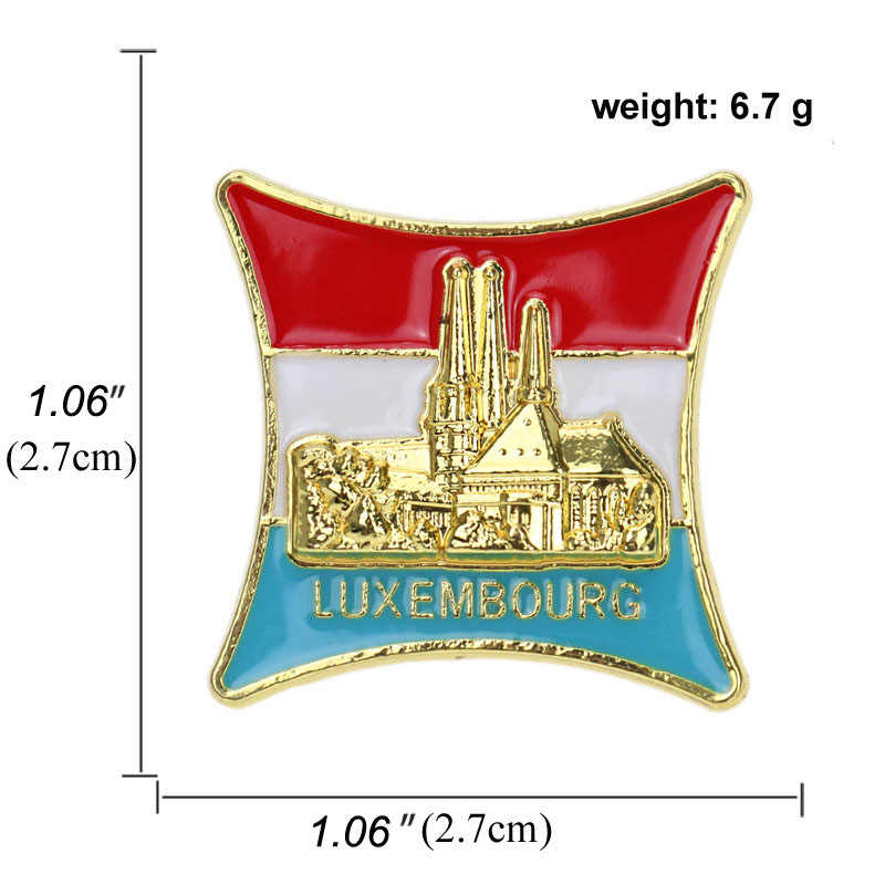 Jerman Bahasa Perancis Republik Ceko Natioanal Bendera Bros dan Enamel Pin Big Ben Bangunan Logam Kerah Pin