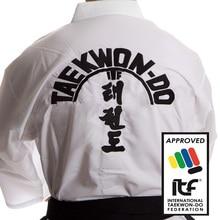 High-Quality ITF approve Taekwondo Uniform assistant instructor Doboks Design Embroidery Pattern Kimono for 1-3 Dan Adult original jcalicu world taekwondo poomsae dan doboks jc wt junior dan male