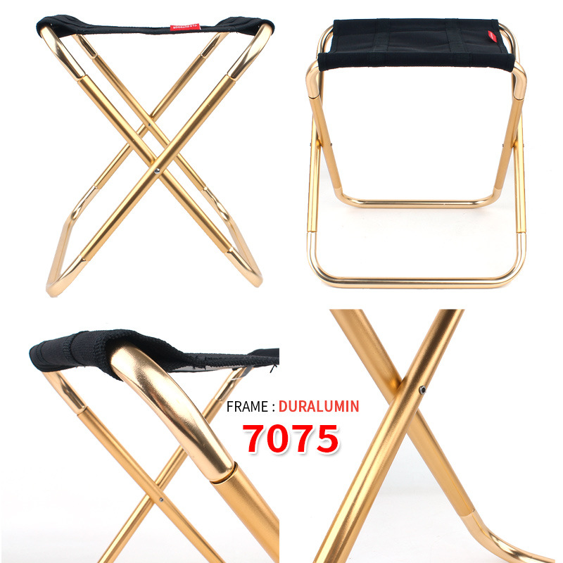 Outdoor folding chair Lightweight Picnic Camping  Fishing Chair 7075 aluminum alloy Easy To Carry portable folding chair