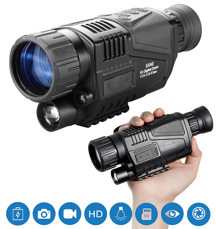 5X Night Vision Riflescope Hunting Scope Optics Sight Tactical Infrared  IR Night Scope Vision Hunting Camera