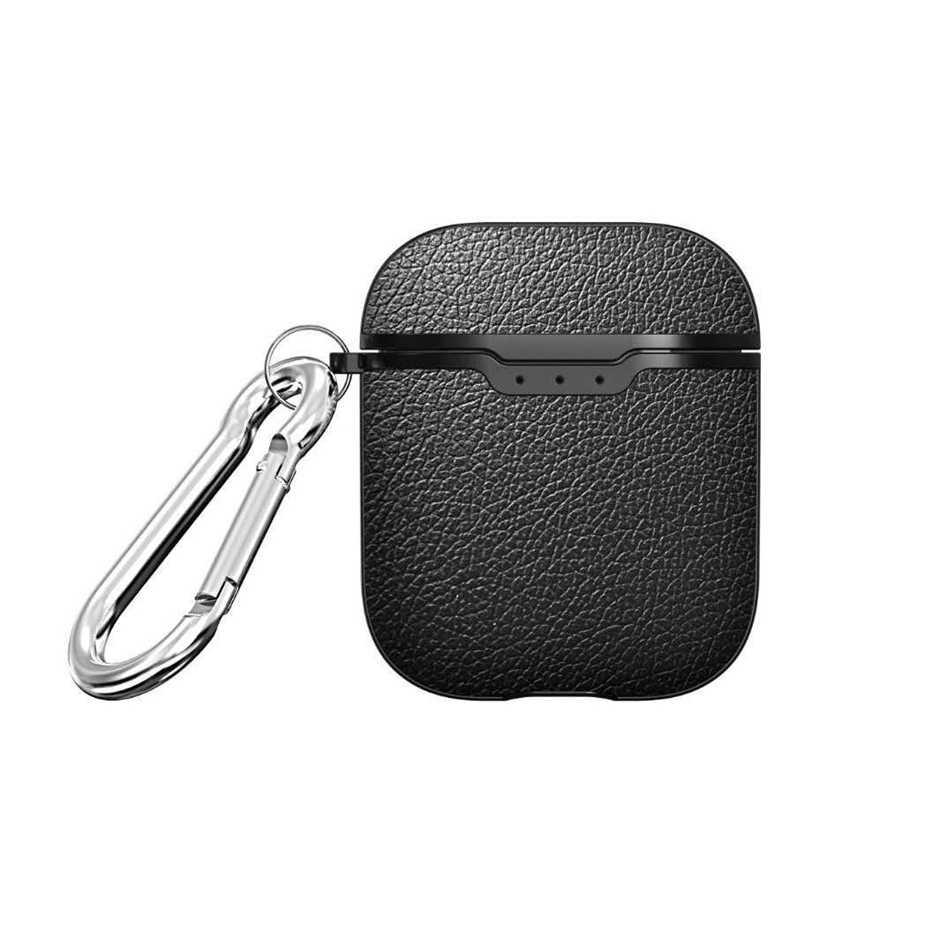Pour AirPods étui Pro luxe Litchi motif écouteur housse pour AirPods 3 Ultra mince antichoc protection étui avec crochet à Carabine
