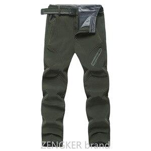 Image 5 - אביב חורף בתוספת גודל מכנסי קזואל זכר עבה עמיד למים מכנסיים sandtroopers גדול גודל רך פגז מכנסיים זכר 9XL 8XL 7XL