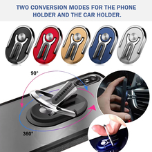 New Finger Ring Car Phone Holder Air Vent Mount Stand For iPhone 360 Rotating Metal Cell Smart Phone For Samsung Car Ring