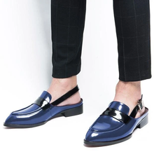 Men Pu Leather Shoes Slip on Casual Shoes