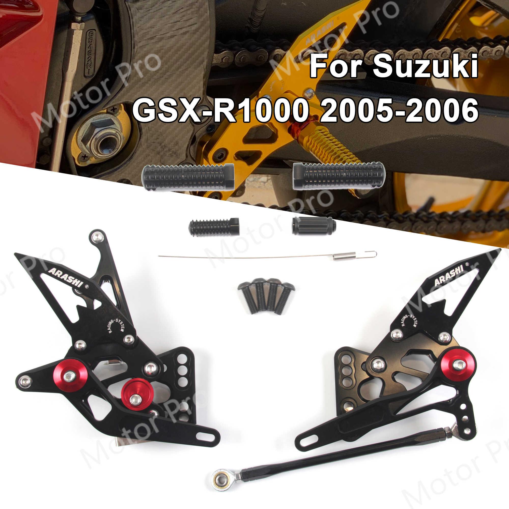 Adjustable Rearsets Front Racing Footrest l Kit For Suzuki GSXR1000 2005-2006