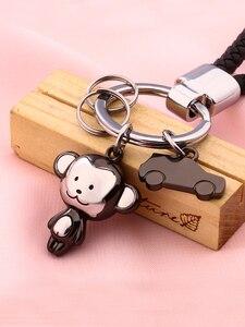 Image 4 - Milesi Liebhaber Keychain Affe Form Schlüssel Anhänger Strass Frauen Schlüssel Finder Mode Männer Auto Schlüsselring Nette Paar Geschenk K0197