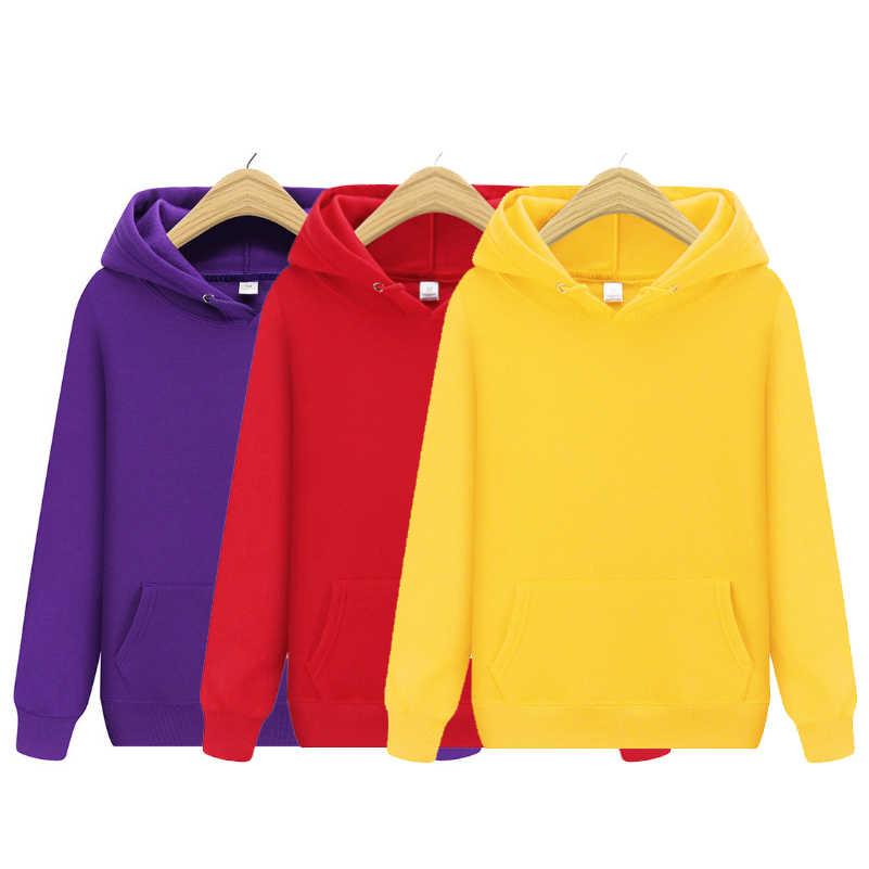 2019 ชาย Hoodies ฤดูใบไม้ร่วงฤดูหนาวชาย Hoodies ของแข็งสีเสื้อผู้ชาย Hip Hop Street สวมเสื้อสเก็ตบอร์ด hooded