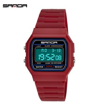 Digital Watch For Women Led Clock Ladies Waterproof Dress Electronic Sport Diving Red Men Wristwatches Couple 2020