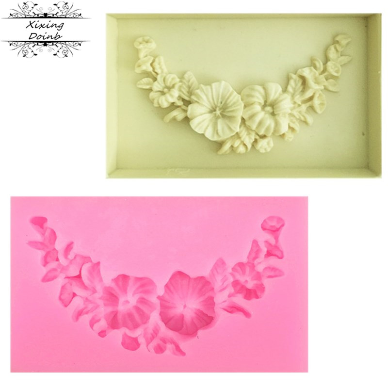 1Pcs Bouquet shape silicone soft candy mold cake decorating tool Candy Chocolate Mold