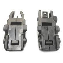 Металлический 1 пара регулируемый низкий профильный металлический флип спереди и сзади BUIS металлический плавающий резервный Железный прицел для винтовки Охотничьи аксессуары