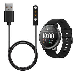 Adaptador de cargador de muelle de reloj inteligente Cable de carga USB magnético Cable básico Cable para Haylou Solar LS05 reloj deportivo inteligente