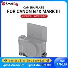 Smallrig g7x mark iii placa de montagem com dois sapatos frios para canon g7x mark iii vlogging rig pode anexar com microfone 2433