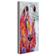 HDARTISAN Wall Art Canvas Painting Animal Picture Posters The Horse Portrait Prints Home Decor No Frame(China)