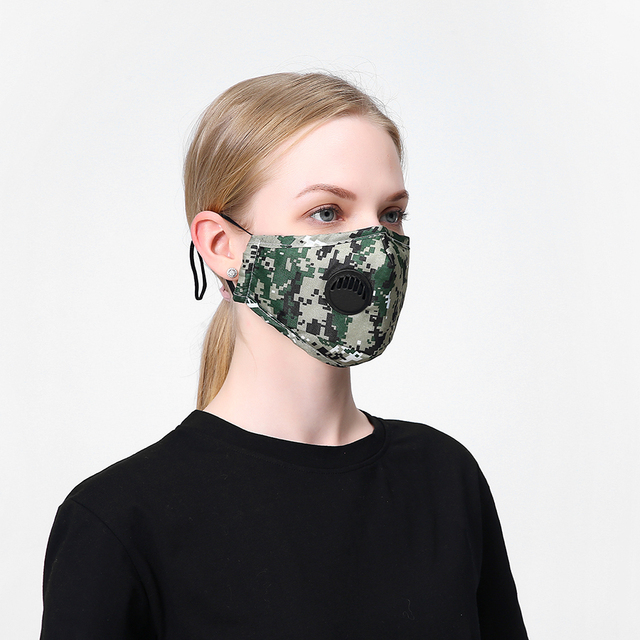 4set Cotton Black Mask Mouth Face Mask Anti PM2.5 Dust Mouth Mask  Activated Carbon Filter Mask Fabric Face Mask washable 2
