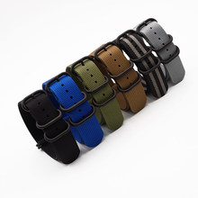 Wholesale 6 Color Heavy Duty Nylon Watchband NATO ZULU Strap 20mm 22mm Striped JUELONG Replacement Watch Band(China)