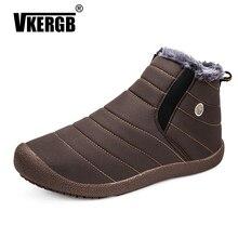 VKERGB New Men Winter Shoes Women'S Warm Snow Boots Couple H