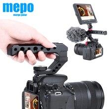 DSLR – barre dextension de caméra, poignée pour Sony, Nikon, Canon, Pentax, support avec chaussure froide pour moniteur, Microphone, lumière de remplissage LED