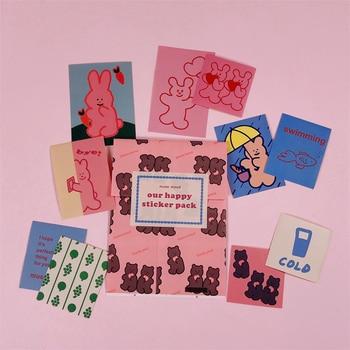 11 Pcs/Pack Pink Retro Gir Sticker Pack Paper Sticker Set Mobile Phone Shell Stick Wall Cheap Cute Handmade Decoration Stickers цена 2017